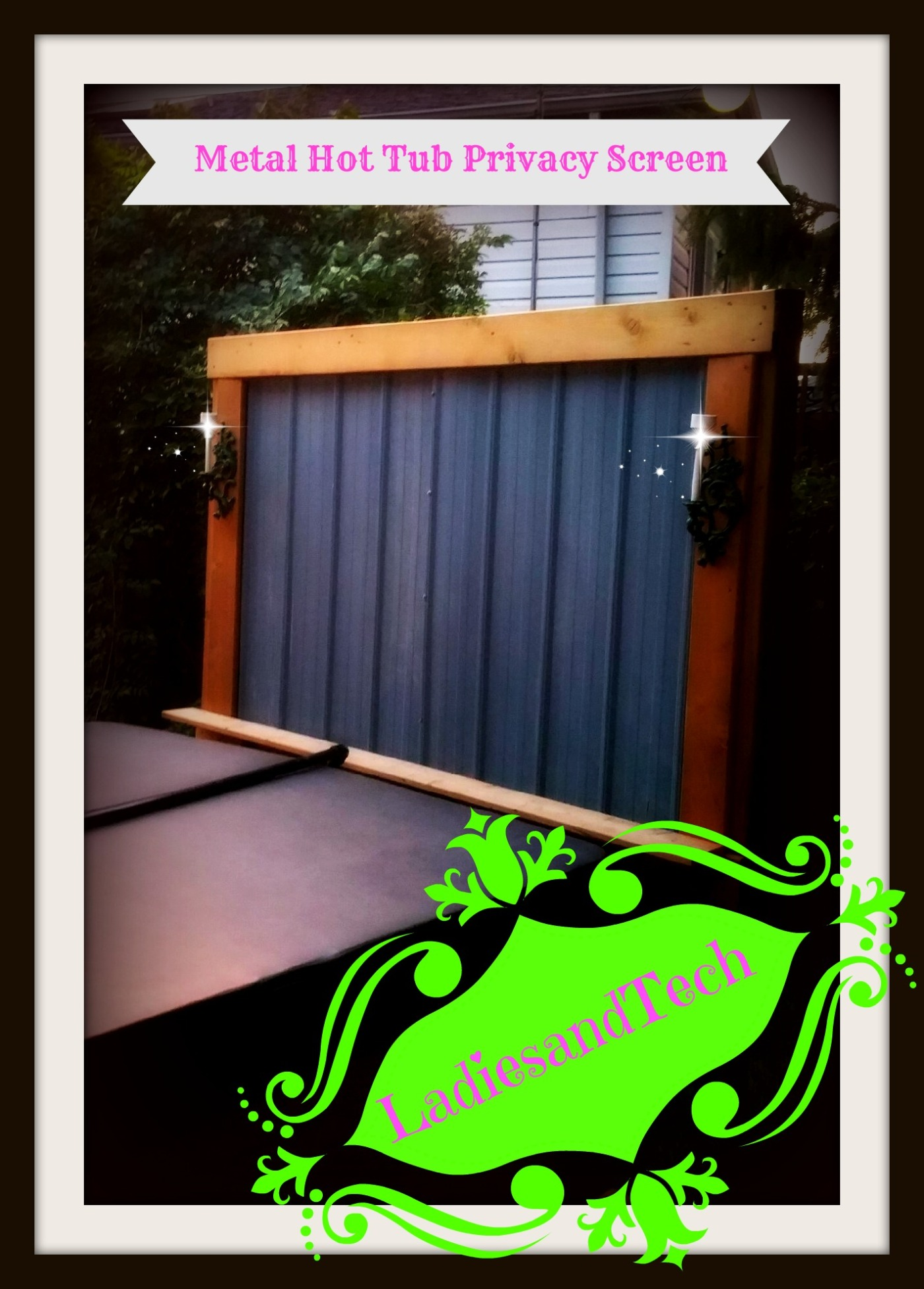 Hot Tub Privacy Screen Ladiesandtech